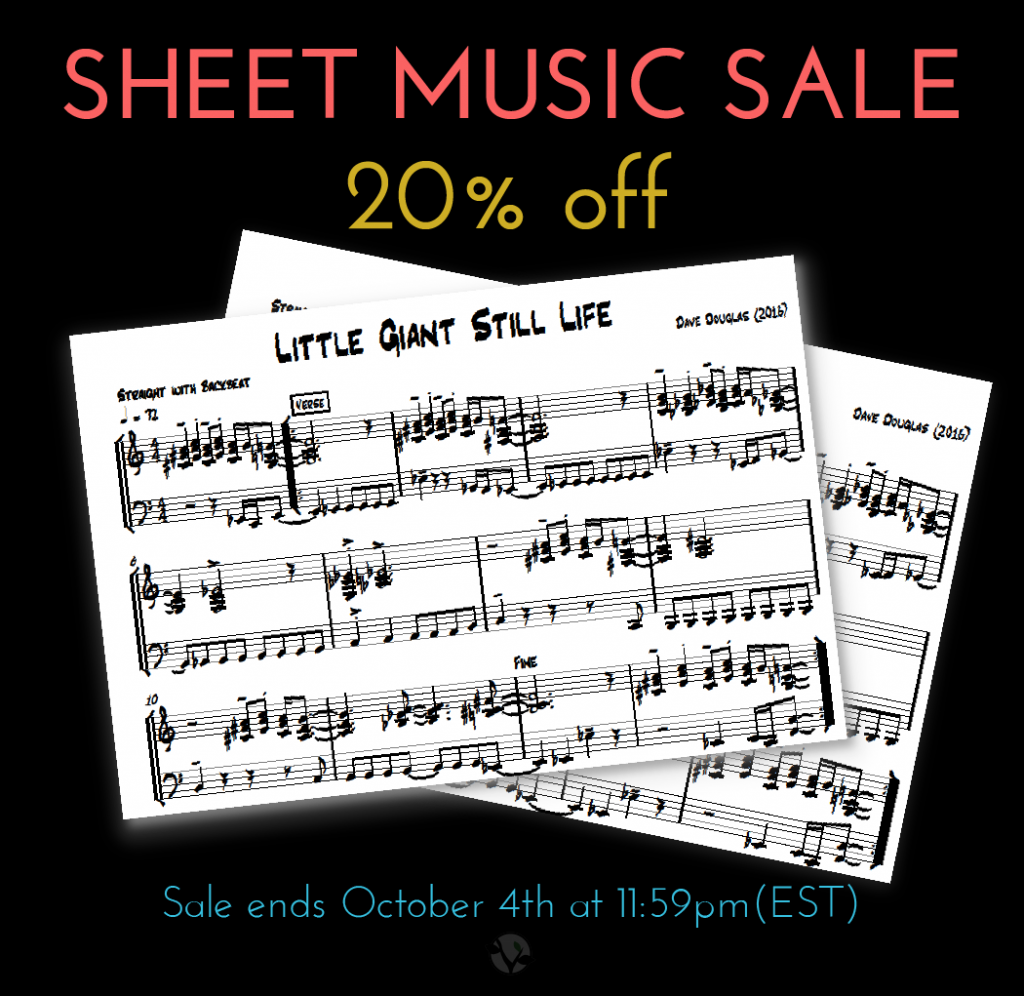 Sheet Music Sale On Now Greenleaf Music By Dave Douglas